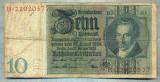 A1738 BANCNOTA-GERMANIA- 10 MARK -22.1.1929-SERIA22020577 -starea care se vede