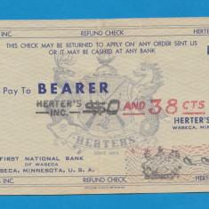 America SUA Bon 38 centimes - bancnota america