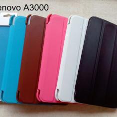 Husa flip originală + folie protectie ecran tableta Lenovo A3000 alba / white - Husa Tableta