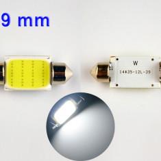BEC AUTO LED SMD - 12 SMD- 39 MM SOFIT FESTOON C5W MULTILED PLAFONIERA NUMAR ALB