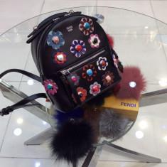 Geanta Fendi Flowers Backpack COllection 2017 * LuxuryBags * - Geanta Dama Fendi, Culoare: Din imagine, Marime: Masura unica, Geanta rucsac, Piele