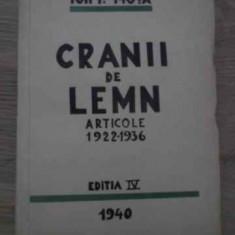 Cranii De Lemn Articole 1922-1936 Editia Iv (miscarea Legiona - Ion I. Mota, 385079 - Carte veche