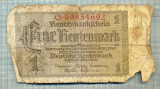 A1816 BANCNOTA-GERMANIA- 1 RENTENMARK- 30.1.1937-SERIA9985692-starea ce se vede