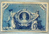 A1741 BANCNOTA-GERMANIA- 100 MARK -7.2.1908-SERIA3120574 -starea care se vede