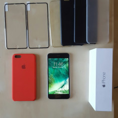 iPhone 6 Plus Apple 64GB Negru (Orange) + 2 folii sticla + 5 huse + cutie, Argintiu