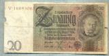 A1731 BANCNOTA-GERMANIA- 20 MARK -22.1.1929-SERIA16693065 -starea care se vede
