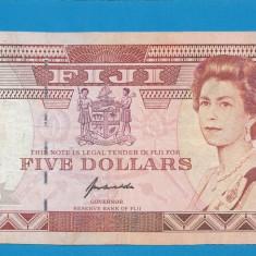 Fiji 5 dollars 1992 XF