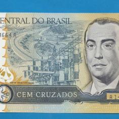 Brazilia 100 cruzados ND 1986 1988 UNC - bancnota america