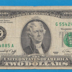 America SUA 2 dollars 1976 - bancnota america