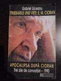 INTINERARIILE UNEI VIETI: E.M. CIORAN * APOCALIPSA DUPA CIORAN - Gabriel Liceanu, Humanitas