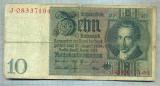 A1736 BANCNOTA-GERMANIA- 10 MARK -22.1.1929-SERIA08337194 -starea care se vede