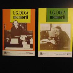 I. G. Duca - Memorii, 2 vol (1914 - 1919: Neutralitatea / Razboiul), 2015 - Biografie
