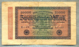 A1807 BANCNOTA-GERMANIA- 20000 MARK -20.2.1923-SERIA031107-starea care se vede