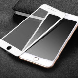 Folie Hoco STICLA SECURIZATA 0.2mm, iPHONE 7 PLUS, margine siliconica moale ALBA