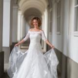 Rochie de mireasa A-line cu cristale Swarovski