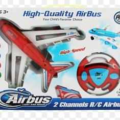 Avion Airbus cu radiocomanda, lumini si muzica - Avion de jucarie