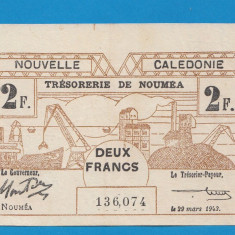Noua Caledonie 2 francs 1943