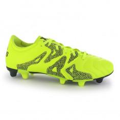 Ghete de fotbal Adidas X 15.3 FG ORIGINALI 42 din piele - Ghete fotbal Adidas, Culoare: Verde, Barbati, Teren sintetic: 1, Iarba: 1