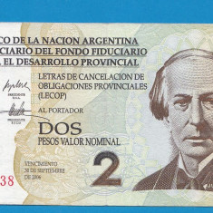 Argentina 2 pesos 2006 - bancnota america