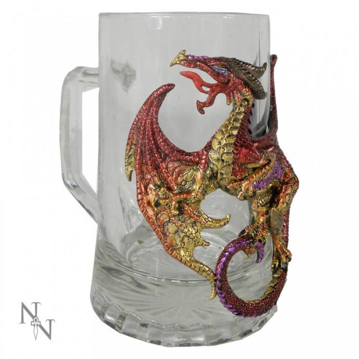 Halbă sticlă Licoarea dragonului foto mare