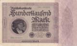 Bancnota Germania 100.000 Marci 1923 - P83a VF+