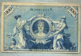 A1743 BANCNOTA-GERMANIA- 100 MARK -7.2.1908-SERIA5981631 -starea care se vede