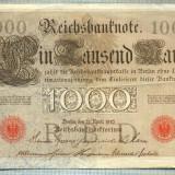 A1745 BANCNOTA-GERMANIA- 1000 MARK 21.4.1910-SERIA4292867 -starea care se vede - bancnota europa