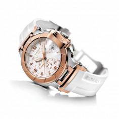Ceas Tissot T-SPORT T0482172701700 T-Race Lady Rose Gold auriu - Ceas dama Tissot, Lux - sport, Quartz, Inox, Cauciuc, Cronograf