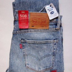 Blugi Levi Strauss | LEVI'S 508 REGULAR FIT JEANS TAPER CONE DENIM W31 L34 - Blugi barbati Levi's, Culoare: Din imagine, Lungi, Prespalat, Drepti, Normal