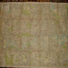 Harta - Plan of London& suburbs ( Londra si suburbiile )