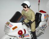Jucarie de colectie motocicleta Highway Hunter Police cu baterii - 1991