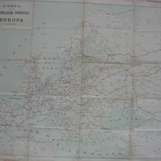 Harta principalelor cai de comunicatie din Europa ( harta italiana )