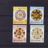 ROMANIA 2007 LP 1759 CERAMICA ROMANEASCA FARFURII TARANESTI SERIE MNH - Timbre Romania, Nestampilat