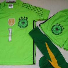 ECHIPAMENTE PORTAR NEUER, -GERMANIA, COPII DE LA 4 LA 6 ANI, - Set echipament fotbal, Marime: S