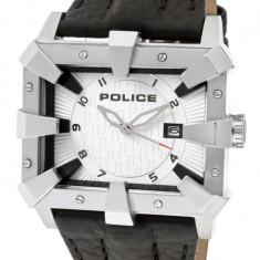 Ceas Police Defender 13400JS/04 - Ceas barbatesc Police, Casual, Quartz, Inox, Piele, Data