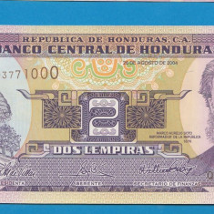 Honduras 2 lempiras 2004 UNC - bancnota america