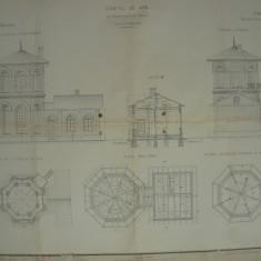 Caile Ferate Romane - Castel de Apa ( 2 planse format mare )