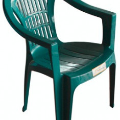 Scaun cu brate din masa plastica KARNAVAL culoare verde Raki