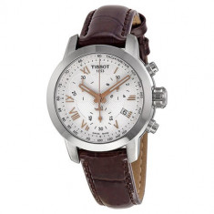 Ceas Tissot PRC 200 Lady Chronograph Brown - Ceas dama Tissot, Lux - sport, Quartz, Inox, Piele, Cronograf