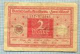 A1865 BANCNOTA - GERMANIA- 2 MARK -1.3.1920-SERIA072945-starea se vede