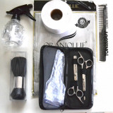 """Kit pentru frizerie cu foarfeca tuns si filat 5"""""""