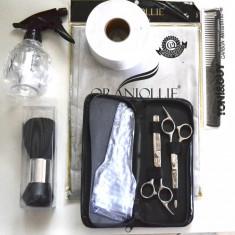 Kit pentru frizerie cu foarfeca tuns si filat 5