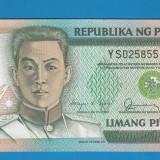 Filipine 5 piso 1990 UNC - bancnota asia