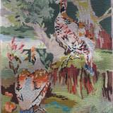 Pereche de Pauni, goblen vechi, Vintage - Tapiterie Goblen