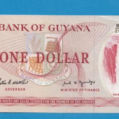 Guyana 1 dollar 1966 1992 UNC A - bancnota america