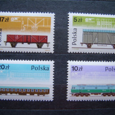 Polonia 1985 locomotive trenuri - serie nestampilata MNH - Timbre straine