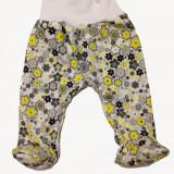 Pantalonasi cu botosei - floricele gri