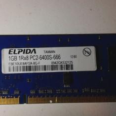 Memorie ram Elpida 1GB 1RX8 PC2 - Memorie RAM laptop