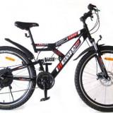 Bicicleta Mountain Bike 26 cu suspensie dubla frana pe disc schimbatoare Shimano Best Laux LMS2645