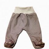 Pantalonasi cu botosei - albi cu dungi mov